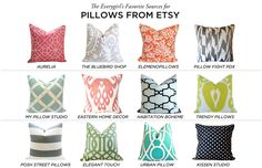 The Everygirl's Favorite Sources for Pillows