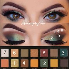 to do green eyeshadow makeup makeup beginners makeup prom revolution 144 eyeshadow palette 2017 makeup do revolution eyeshadow palette newtrals 2 apply eyeshadow makeup for bridal makeup Green Makeup, Love Makeup, Makeup Inspo, Makeup Inspiration, Beauty Makeup, Makeup Ideas, Makeup Tutorials, Simple Makeup, 80s Makeup