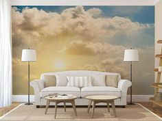 Wallpaper Cloud Sunrise Wall Mural Sky Wallpaper Wall Decal