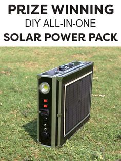 Grand prize winning survival project. Get the instructions for this solar power pack!