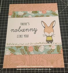 """Welcome to ourAustralasianBlog Hop. We have all been creating with the """" Easter Bunny—February Stamp of the Month """" Sta mp set. If..."""