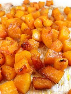 Maple Glazed Roasted Butternut Squash: easy & delicious side dish that'll have you craving butternut squash morning, noon and night! Addictive caramelized squash.