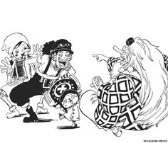 Chopper unable to tell the difference between a tengu, Pinocchio, and Usopp.