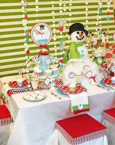 Snowman Table #holidayentertaining