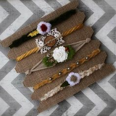 Fall tieback headbands setPhoto by DESERTROSECOUTURE on Etsy