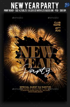 #New Year #Party #Flyer - Clubs & Parties #Events
