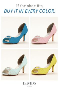 Add a pop of color with our prettiest pairs of dyeable shoes, now available in over 70 exclusive colors.