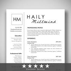 etsycom resumetemplate professional resume cv resume template