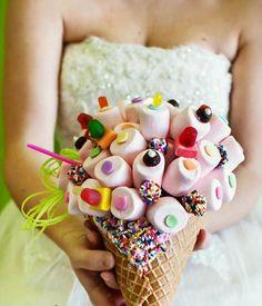 необычный свадебный букет: съедобный