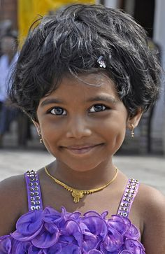 Dimples in India~~What a lovely little girl...even her eyes are smiling ;0)