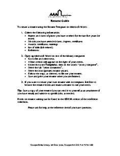Resume Outline For A College Student  HttpWwwResumecareer