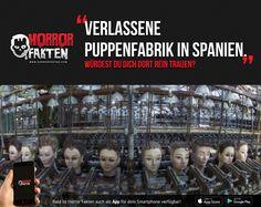 Verlassene Puppenfabrik in Spanien. Würdest du dich dort rein trauen?