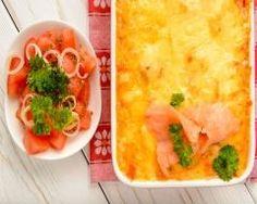 Gratin de pommes de terre aux deux saumons