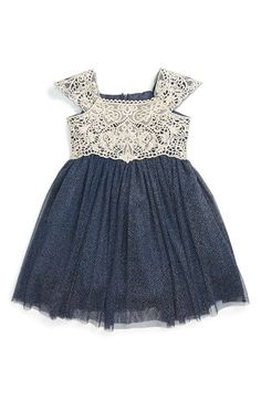 Dorissa 'Belinda' Lace & Tulle Party Dress (Baby Girls) available at #Nordstrom