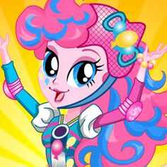 MLPEG Friendship Games Pinkie Pie Roller Skates Style Dress Up Game