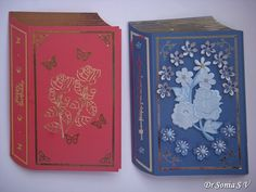 Cards ,Crafts ,Kids Projects: Book shaped card tutorial and template