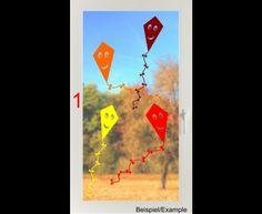 Herbst - Vier lachende Drachen im Wind - Folien-Tattoo Set - ein Designerstück von CatrinKerschl bei DaWanda