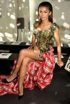 Zendaya at the Vivienne Westwood show at Paris Fashion Week in Paris 10/3/15