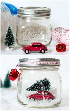 20 DIY Noel avec des Potts de Verre - Places Like Heaven - Decoration Christmas Tree Advent Calendar, Noel Christmas, Simple Christmas, Christmas Gifts, Christmas Decorations, Christmas Ornaments, Dollar Store Christmas, Mason Jar Christmas Crafts, Jar Crafts