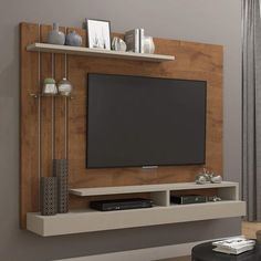 TV Panel up to 47 Inch Valencia Perm - Wall Unit Designs, Tv Stand Designs, Living Room Tv Unit Designs, Tv Unit Furniture Design, Tv Unit Interior Design, Pallet Furniture, Tv Unit Decor, Tv Wall Decor, Tv Cabinet Design