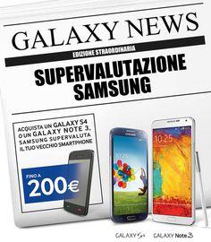 Samsung Valuta il tuo telefono usato se acquisti un Galaxy S4 o Note 3