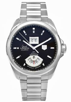 - Tag Heuer Men's Grand Carrera Swiss Automatic Stainless Steel Bracelet Watch Tag Heuer Automatic, Automatic Watch, Stainless Steel Bracelet, Stainless Steel Case, Cool Watches, Watches For Men, Stylish Watches, Men's Watches, Fashion Watches