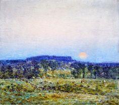 """""""September Moonrise"""" - Childe Hassam - 1900"""