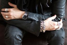 Leather & Chrome Hearts