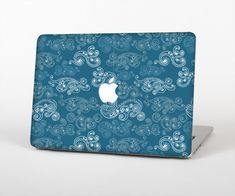 """The Seamless Blue and White Paisley Swirl Skin Set for the Apple MacBook Air 13"""" from Design Skinz, INC."""