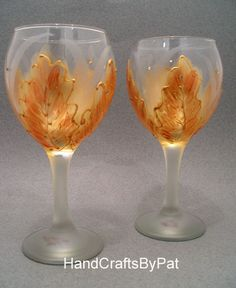 Glassware - Wine Glass: Glow - Unique Gifts - HandCraftsByPat