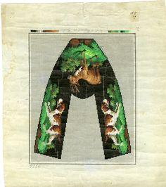 Antique berlin woolwork pattern - Hertz und Wegener