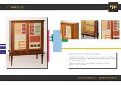 Original restored empire sideboard with handmade patchwork. By atelier myArtistic www.myartistic.it