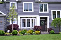 dark purple houses exterior - Google Search