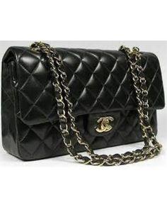 7ae1db93d Bolsa Chanel Clássica, Bolsa Chanel Preta, Bolsas De Couro, Bolsas Luxo,  Bolsas