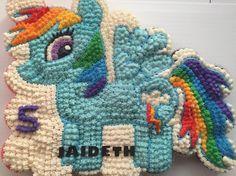 My little pony rainbow dash cupcake cake