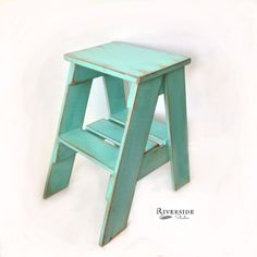 A personal favorite from my Etsy shop https://www.etsy.com/ca/listing/253287160/rustic-wood-step-stool-shabby-chic