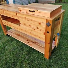 All weather 48-QT Rustic Cedar Chest Cooler Stand with Brass | Etsy Cooler Stand, Ice Chest Cooler, Bar Console, Wooden Cooler, Large Cooler, Hutch Cabinet, Cool Tables, Salvaged Wood, Cool Bars