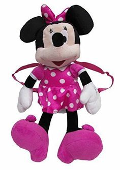 """Disney Minnie Mouse Baby Girl Backpack Bag - 17"""" Pink"""