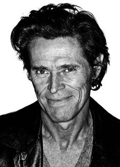 Willem Dafoe - Academy Award-nominated American film, stage, and voice actor, and a member of the experimental theater company The Wooster Group. Celebrity Photography, Dark Photography, Portrait Photography, Celebrity Portraits, Kino Theater, White Man, Black And White, The Boondock Saints, Willem Dafoe
