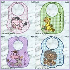 """""""Bottle Babies Bibs Large and Small"""" This #MachineEmbroideryProject set included designs for 7 different bibs, in 2 sizes each, for 8x10 and 8x12 hoops. These are wonderful for parents of young babies and children, particularly those expecting, and such a welcome gift at any baby shower!"""