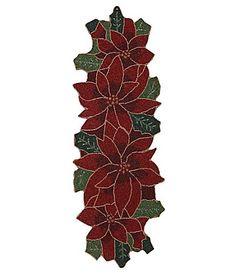 Pinterest on     Poinsettia runners table Poinsettia, Flowers Pinsperation Christmas dillards