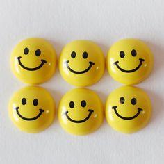 12 pcs Decoden Resin Cabochon Circle Yellow by Supabonbonniere2