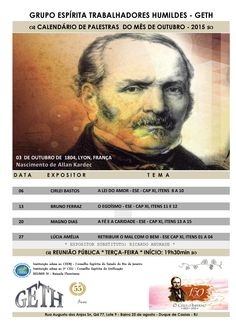 Calendário de Palestras do Mês de Outubro do GETH – Duque de Caxias – RJ - http://www.agendaespiritabrasil.com.br/2015/10/01/calendario-de-palestras-do-mes-de-outubro-do-geth-duque-de-caxias-rj/