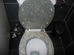 Not even gonna lie, but my butt deserves to sit on a glitterfied toilet....Bwahahaha
