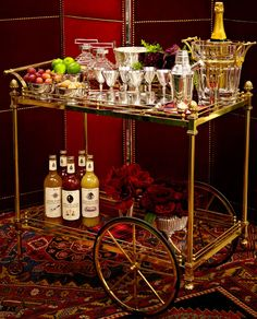 We will stock your bar with his signature, over-the-top panache. Re idea Bronson Van Wyck Holiday Decorating  ELLE DECOR
