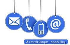 iletişim türleri, telefon, mail, e-posta,