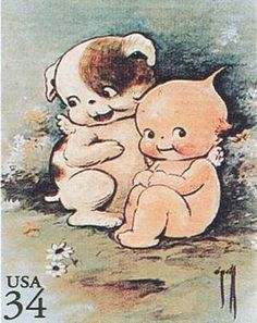 """""""Rose O'Neill (1874-1944) was a self-trained artist who invented the cupid-like whimsical Kewpies in 1909 while illustrating for magazines. The popular Kewpies also appeared in advertisements, and today Kewpie dolls are still prized collector's items. O'Neill was also a talented sculptor, novelist, and poet"""""""