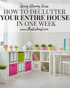 Ready to purge your home of all the clutter? We break it down into seven manageable steps so you can have your entire house organized in just one week!