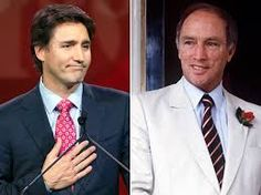 The Trudeau's - The Son ( Justin Trudeau) and the Father ( Pierre Elliott Trudeau) . Prime Ministers of Canada Canadian People, I Am Canadian, Canadian History, Trudeau Canada, Meanwhile In Canada, Inspirational Leaders, People Of Interest, Justin Trudeau, Canada Day