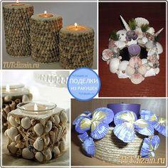 """Artesanato de conchas """"Design e Decoração com as mãos"""